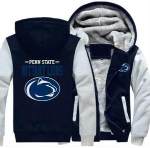 2018 Penn State Nittany Lions Sweatshirt Cálido polar Polarizar Chaqueta con cremallera Escudo Sudaderas Sudaderas Chaqueta actualizada
