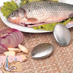 Forma ovalada de jabón de acero inoxidable magia que elimina el olor olfato limpieza barra de cocina mano Chef olor removedor de tamaño pequeño