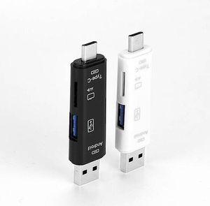 3 в 1 Тип-C кард-ридер Micro USB Тип-C флэш-накопитель адаптер разъем высокоскоростной TF карт памяти для Macbook телефон OTG