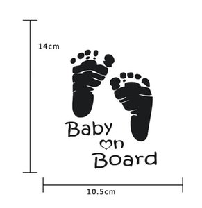 Car Stickers Baby On Board Baby Mommy Love Footprint Prompt Car Covers Body Dacel 20PCS Lot
