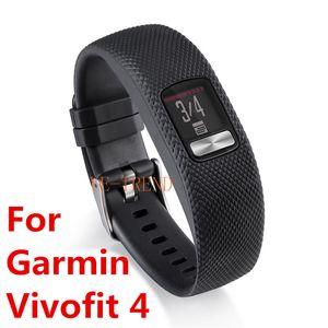 Nueva llegada 10Color Reemplazo Inteligente banda de goma banda de reloj correa de silicona para Garmin Vivofit 4 Vivofit4 pulsera