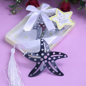 (10pcs lot)FREE SHIPPING+Book Lovers Collection Starfish Bookmarks Beach Themed Wedding Party Giveaway For Guest