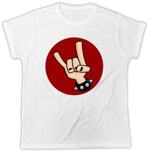 Rock N Roll Camiseta Spike Leather Strap Música Rock Hipster Unisex T-shirt