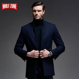 New Arrival 2018 Winter Casual Wool Coat Men Fashion Business Long Thicken Slim Woolen Men's Overcoat Jacket Male  Clothes