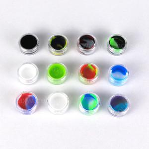 En kaliteli Silikon Wax Kapları Gıda sınıfı 12 Renkler 5ml Mini Kavanoz Dab Waxy Kavanozları Konsantre Vaka FDA ecig kutusu onaylı
