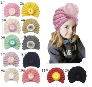 Hotsale Newborn Baby hat Indian Donut spiral headwrap Knit hats caps Maternity 2018 Autumn Spring 12 Colors Exported