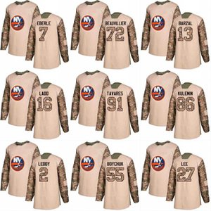 2018 Camo Veterans Day 91 John Tavares 29 Brock Nelson 11 Shane Prince 10 Alan Quine New York Islanders Custom Hockey Jerseys