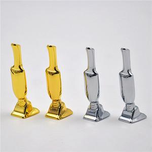 Snuff Hooter Snorter De Metal Hoover Vacuum Sniffer Bala Rocket Sunff Snorter Tubo De Metal Hoover Sniff Tubo De Metal De Prata Ouro