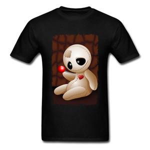 부두 인형 사랑의 만화 남성용 반팔 티셔츠 100 % 코튼 티셔츠 T 셔츠 브랜드 Father Day O-Neck Tee Unique