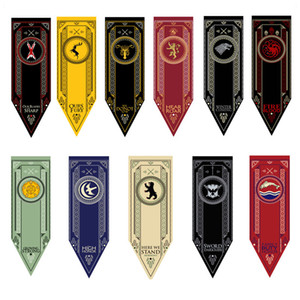 Game of Thrones House Stark Tournament Banner Flag 45*150cm 11 Styles Outdoor Flags Garden Decorations 100pcs OOA5382