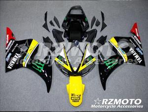 Molde de inyección Nuevos carenados para Yamaha YZF-R6 YZF600 R6 03 04 05 R6 2003-2005 ABS Plástico Carrocería Motocicleta Carenado Kit Negro Amarillo T3