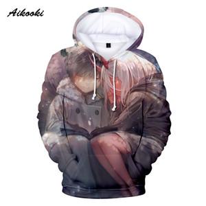 Aikooki Darling en la sudadera con capucha de la impresión en 3D de Franxx Sudaderas con capucha de las mujeres de los hombres Sudaderas con capucha de la calle neutral popular