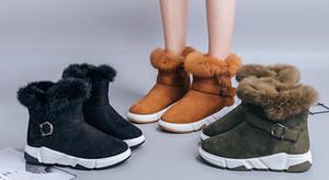 2018 winter new snow boots wild short tube plus velvet booties snow cotton shoes SIZE 35-40
