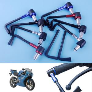 Beler 4pcs Moto Vélo 22mm 7/8 pouce Frein Levier Embrayage Protecteur Garde Garde-Main Réglable Bar Poignées De Moto