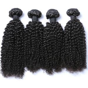 Venta al por mayor 4 Bundles brasileña rizada virgen del pelo humano tejer extensión del pelo rizado rizado precio de descuento armadura de la vía láctea