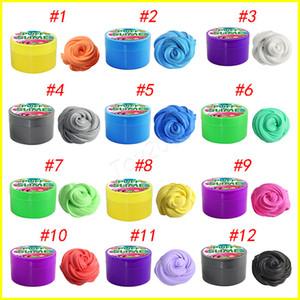12 색상 탈출 장난감 PUFF SLIME 어린이와 성인을위한 다채로운 면화 진흙 DIY Plasticine 진흙 안티 스트레스와 편안한 YYA929