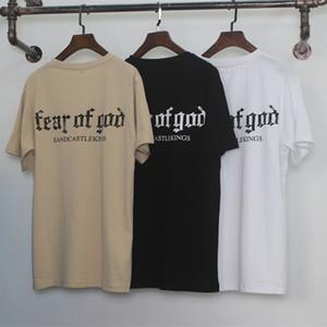 Страх Божий T Shirt Мужчины Женщины Хлопок FOG Justin Bieber Одежда Fearofgod футболки Nomad Топ тройники Мода страх Божий тенниска