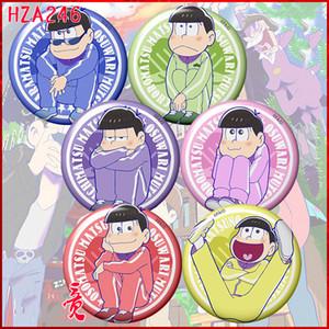 6 unids / set 58 MM Insignia Osomatsu San Divertido Osomatsu Jyushimatsu Mochila Pins Insignias Versión Para Adultos Spilla Icons Brooch