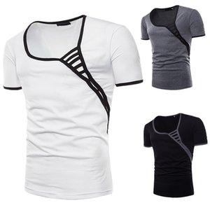 Summer Shirts Men Short Sleeve Top Shirts Personality Collar T Shirts New Casual Shirt Polos Hot Top Men Free Shipping