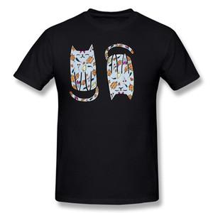 Venta al por mayor de los hombres 100% algodón tela Otoño Kitty Tee-Shirt Hombres O-cuello verde oscuro de manga corta camisetas S-6XL Normal Tee-Shirt