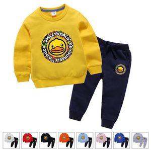 2018 l'automne vêtements pour enfants coréens et les sports bébé costume pour les enfants d'hiver garçon de deux pièces et une fille chandail à manches longues