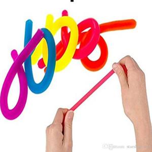 Nouveauté Décompression Corde tpr Fidget Abreact Flexible Colle Nouilles Cordes Stretchy Chaîne Néon Élingues Enfants Adulte Jouets XMAS Cadeaux TY7-306