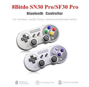 8Bitdo SN30 Pro / SF30 Gamepad Pro Bluetooth Wireless Controller Jeu avec joystick pour Windows Android vapeur Nintendo Commutateur