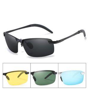 Nuovi occhiali da sole polarizzati da uomo in alluminio telaio in magnesio auto guida occhiali da sole 100% uv400 polarizzati occhiali stile occhiali