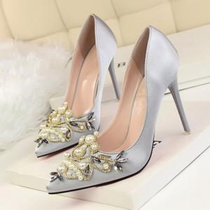 Сексуальные туфли на высоком каблуке женщина насосы красное золото серебро туфли на высоком каблуке женщина дамы свадьба обувь 2018 Fretwork 10 см