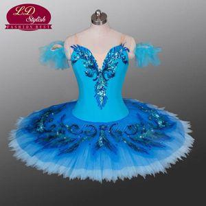 Adult Classical Ballet Tutu Blue Professional tutus Costumes Blue Bird Stage Performance Dancewear