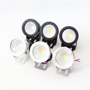 LED lumière sous-marine LED 10W AC 110v 220v DC 12V Aquarium Fontaine Piscine Lampe IP68 étanche Wash Lustre chaud / refroidissement lumières blanches