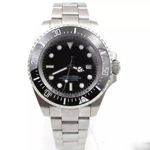 Горячие продажи Мужские Часы Глубокая Керамическая Рамка SEA-Dweller Sapphire Cystal Stanless Steel With Glide Lock Автоматические Механические мужские Часы
