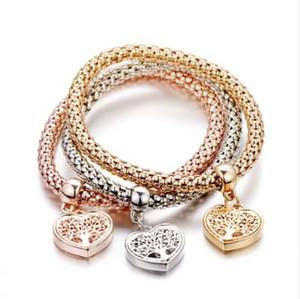 """""""BAUM DES LEBENS"""" Herz edition Charme Armbänder Für Frauen Gold Farbe 2018 Ethnische Liebe Kristall Armbänder Armreifen B158"""