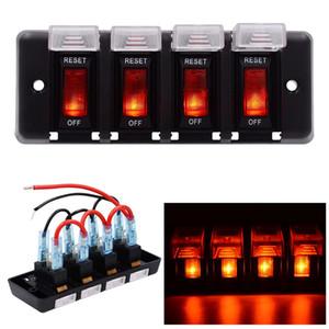 4 갱 LED 로커 스위치 패널 12V 자동차 Rv 해양 보트 B00645에 대 한 회로 차단기 퓨즈