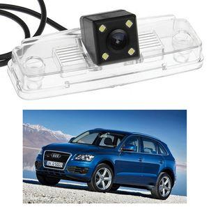 Yeni 4 LED Araç Dikiz Kamera Ters Yedekleme CCD Audi Q5 2009-2014 için fit 10 11 12 13