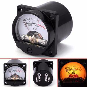 Panel Medidor VU 6-12V bulbo caliente Volver grabación Luz de nivel de audio Amp medidor Equipo eléctrico Tamaño 35x35mm