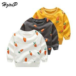 HziriP Nouveau Printemps Automne À Manches Longues T-shirt Casual Cartoon Coton Enfants Pulls Molletonnés Col Rond Bébé Garçons Hoodies Vêtements