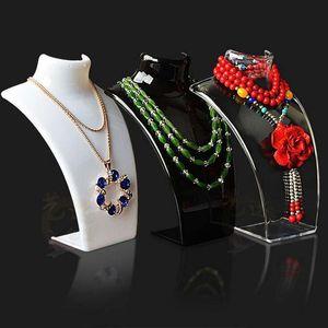 3 renk kolye Ekran Tutucu bilezikler Manken olduğu stand Toptan Küpe Kolye Takı Seti Boyun Modeli ucuz Reçine Akrilik Mücevher