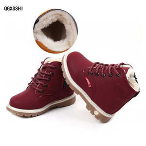 Winter Children's Fashion Boots With Plush Chaussure Kids Snow Boot Child Warm Sport Shoe For Boys Girls Footwear #16