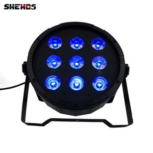 Wireless remote control LED Par CREE 9x12W 4in1 RGBW Led Stage Light LED Flat SlimPar Quad Can With DMX512 Flat DJParty Party lights