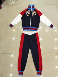 99 2018 Sonbahar kadın Iki Parçalı Pantolon Uzun Kollu Tam Uzunluk Düzenli T Shirt + Uzun Pantolon Marka Aynı Stil QIAN