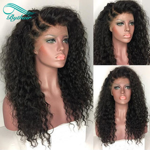 Pelucas rizadas del pelo humano del cordón de la densidad duras 150% Afro rizado pelucas delanteras del cordón brasileño Peluca rizada rizada para las mujeres negras