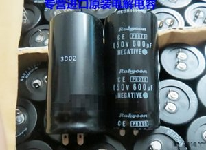 LOW ESR RUBYCON 450V 600UF Photo Flash Capacitor 30 * 60 milímetros Top Qualidade