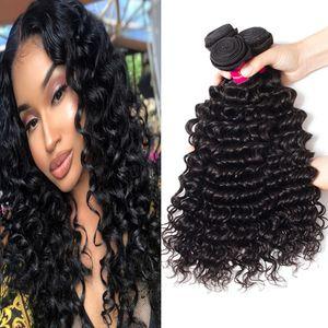 9A brésilienne de cheveux humains Bundles vague de corps droite vague lâche Kinky bouclés vague profonde 100% brésilienne péruvienne malaisienne indienne mongole cheveux