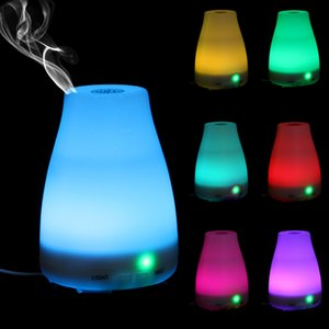 100 мл 7 Цвет Эфирное Масло Диффузор Портативный Увлажнитель Аромата Диффузор LED Night Light Ультразвуковой Прохладный Туман Свежий воздух Ароматерапия