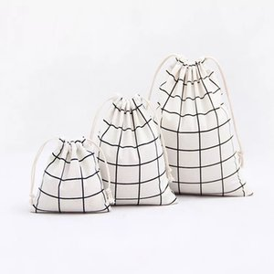 Einfacher Gitterbaumwollleinenstoffstaub-Stoffbeutel Kleidung-Socken / Unterwäscheschuhe empfangen Tasche nach Hause Verschiedenes Kinderspielzeugspeicherbeutel