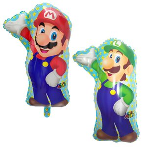 10pcs 60 * 45 cm Palloncini Super Mario Baby Birthday Party Mario Bros Mylar palloncino Decor forniture per bambini Giocattoli classici