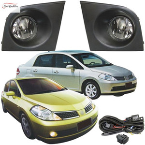Luces antiniebla para NISSAN TIIDA / LATIO 2005 ~ 2008 Clear Front Bumper Fog Lamp Replace Assembly kit (one Pair)