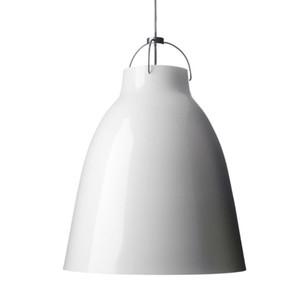 D40cm Cecilie Manz Caravaggio Creative Aluminium Indoor Nero / Bianco Kitchen Dinning Room Bar Cafe Lampada a sospensione E27 LED Lampada a sospensione in metallo
