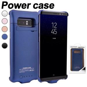 삼성 Note 8 배터리 케이스를위한 휴대용 외부 충전식 전원 충전기 케이스 5200mAh 소매 박스 보호 백업 사례